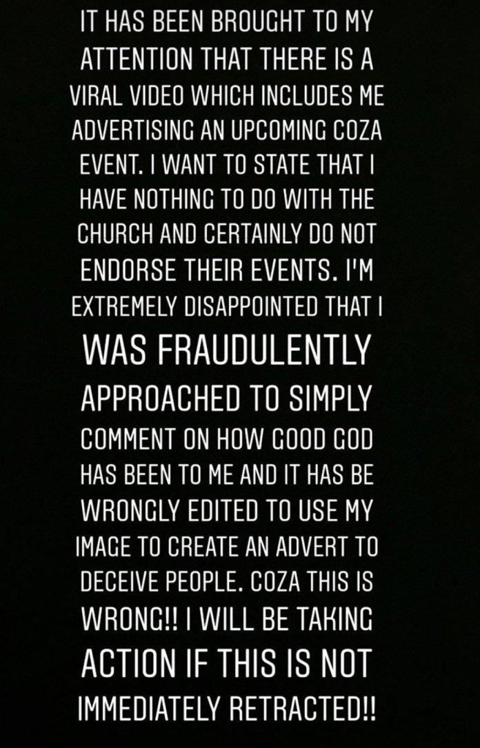 """COZA This is wrong""- Tiwa Savage Threatens To Sue Fatoyinbo, COZA (Video)"
