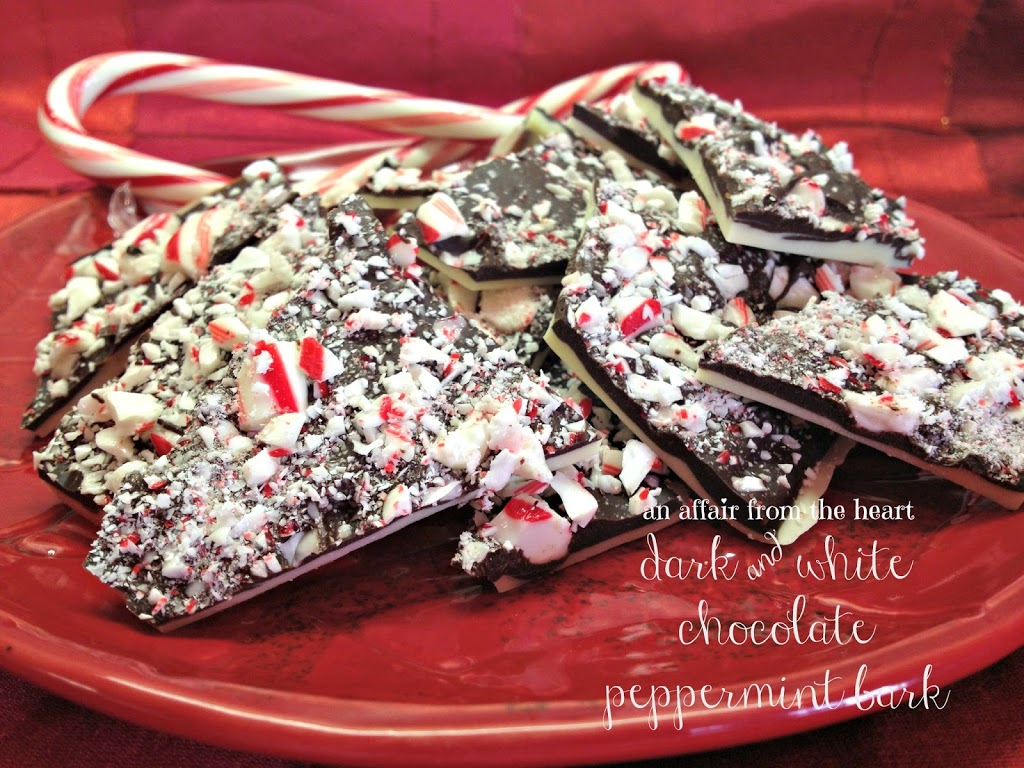 White and Dark Chocolate Peppermint Bark | An Affair from the Heart