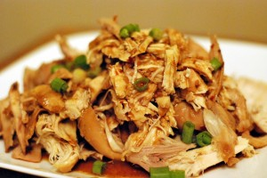 Slow Cooker Bourbon Pulled Chicken