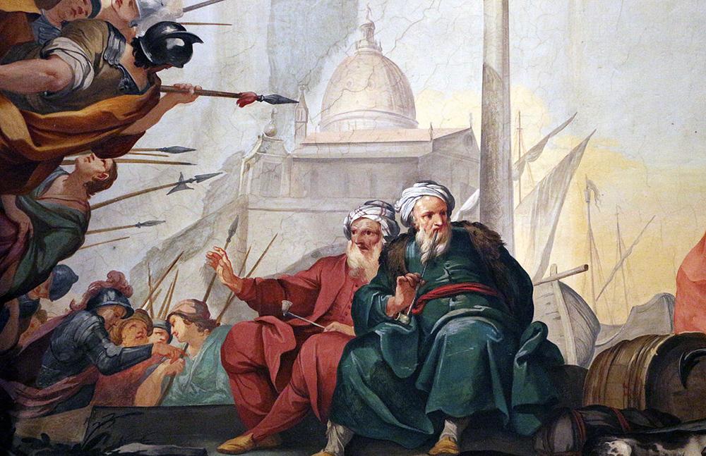 Alessandro III e Federico Barbarossa a Venezia (particolare)