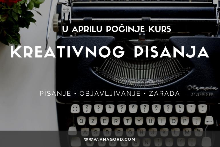 Kurs Kreativnog Pisanja U Aprilu 2021