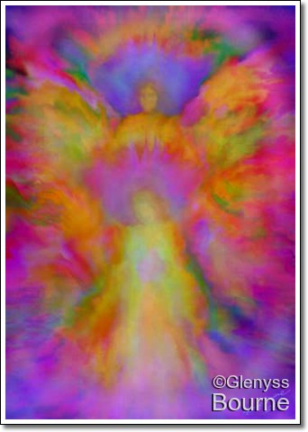 Angel painting by Glenyss Bourne