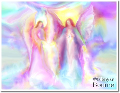 "Angel of  Light. ""Infinite Love"" painting"