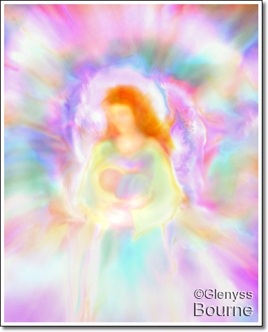 Angel of  Divine Love and Protection, Elandra painting