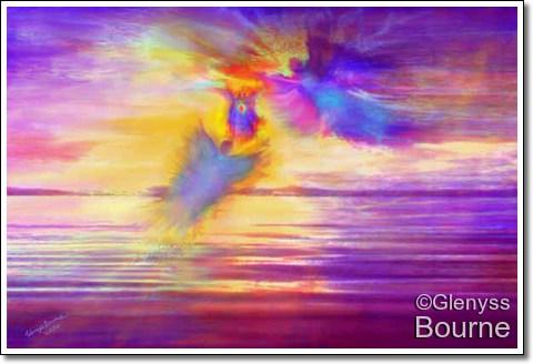 Angel of  Eternal Love painting
