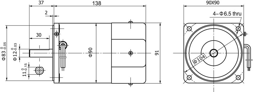 ac motors acw090 wiring