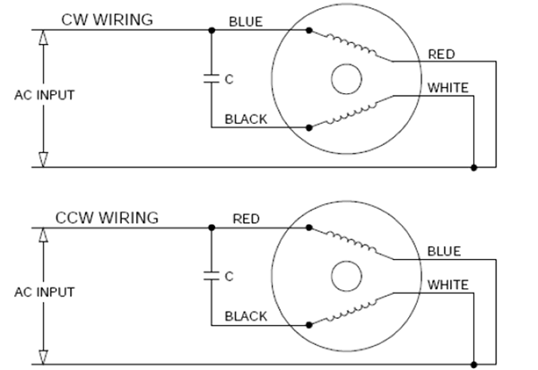 wiring diagram of single phase motor with capacitor, Wiring diagram