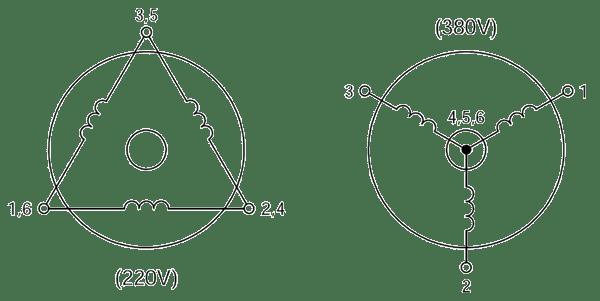 three phase motor wiring diagrams plant diagram clip art acp m ac induction gear motors
