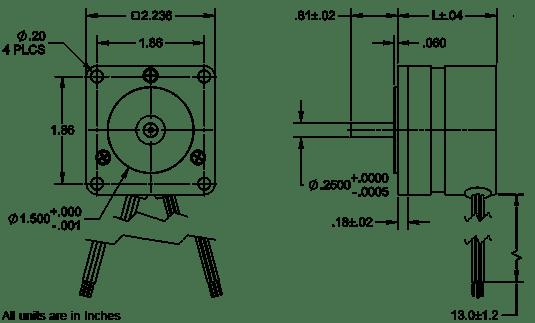 Dual Shaft Dimensions