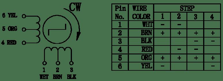 step motor wiring diagrams