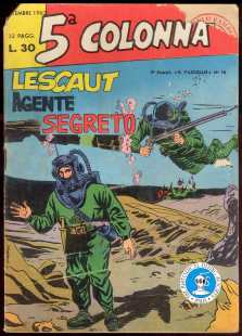 5^ Colonna - Lescaut agente segreto - set. 1962