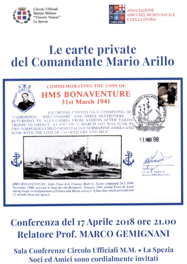 Le carte private del Comandate Arillo