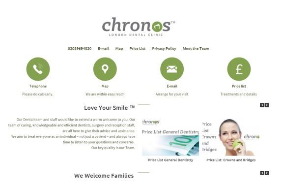 chronos web page