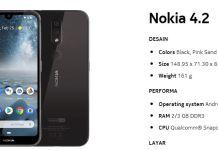 Spesifikasi Nokia 4.2 RAM 3GB