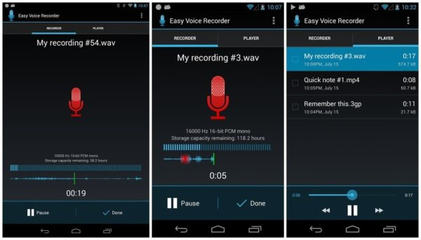 Easy Voice Recorder. (Sumber: phonearena)