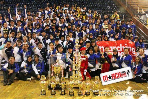 MBUI Juara 1! | Sumber : marchingmaniac.com
