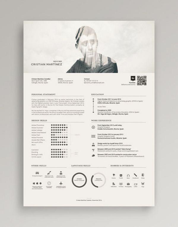 Contoh Desain CV yang Menarik 11