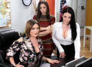 Phone Service Skills – Abella Danger & Angela White & Krissy Lynn