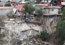 Derrumbe, colonias, afectados