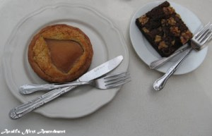 desserts on plates