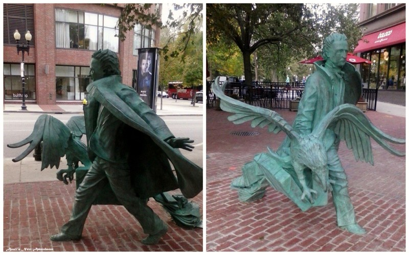 Edgar Allen Poe Statue in Boston