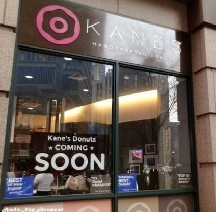 Kane's Donuts window Boston