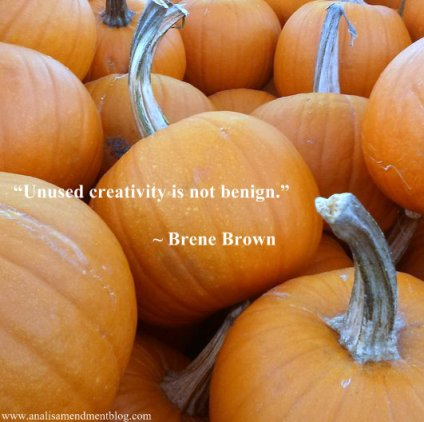 Brene Brown quote on creativity