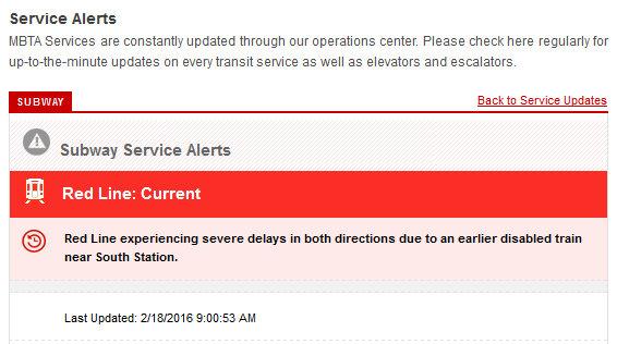 Red Line alert