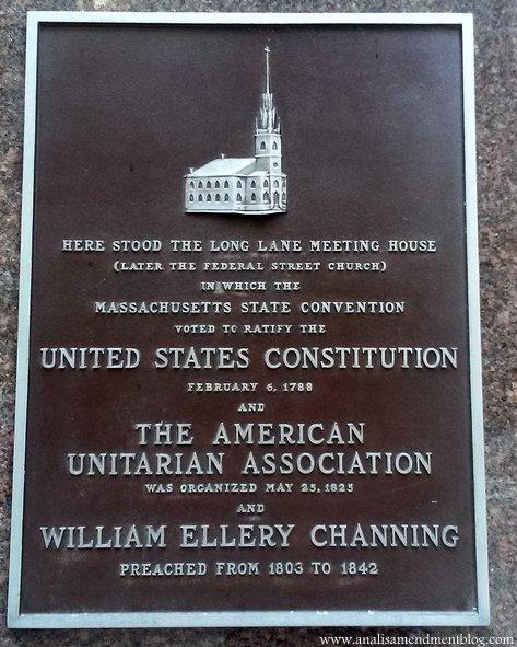 Bank of America plaque