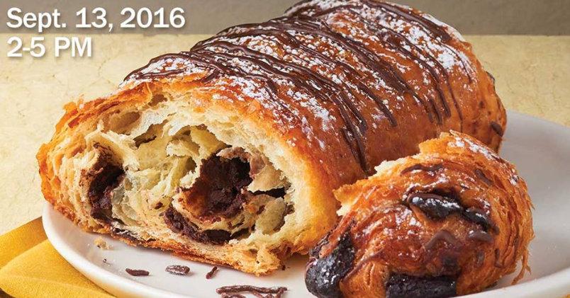 aubonpain free mini chocolate croissant