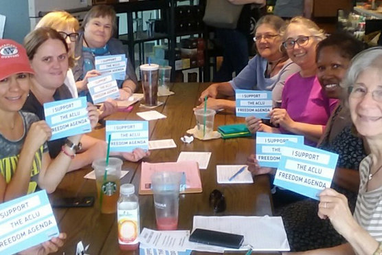 Organizing with the ACLU in Quincy.