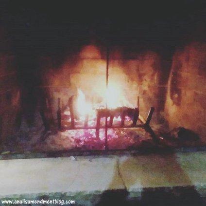 October outdoor fire