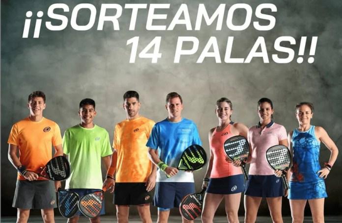 BULLPADEL SORTEO DE 14 PALAS