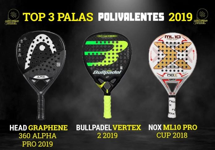 HEAD BULLPADEL NOX PALAS POLIVALENTES