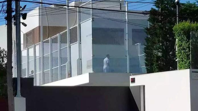 Messi jugando al pádel