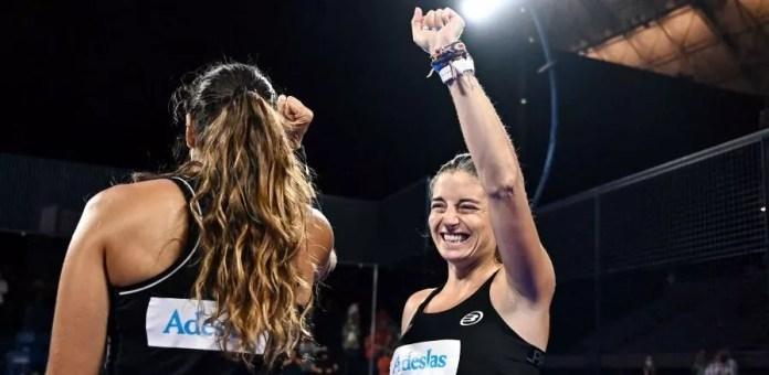 Alejandra Salazar y Gemma Triay en la final Estrella Damm Barcelona Master 2021