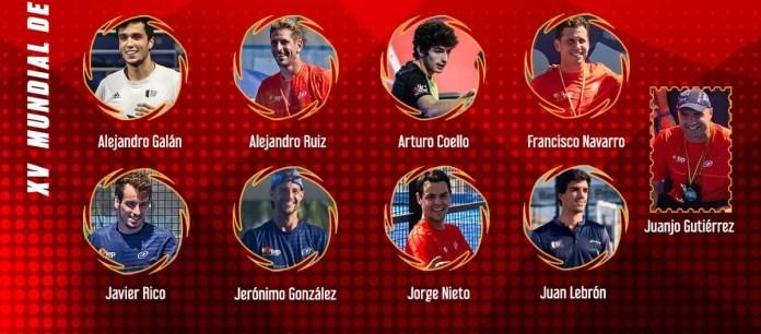 Conoce al equipo de la Selección Masculina de Pádel para el Mundial en Qatar