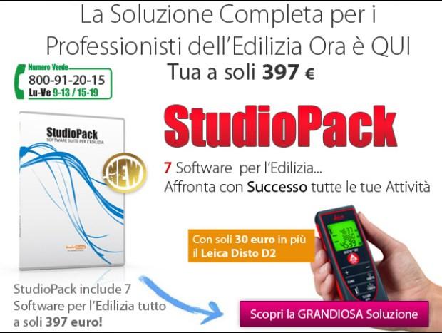 StudioPack: 7 software per l'Edilizia a soli 397 euro