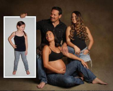 La familia con sus tres hijas. Foto: Instagram