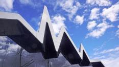 Riverside Museum, obra de Zaha Hadid