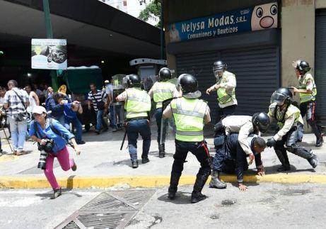 Grupos de periodistas fueron agredidos verbal y físicamente/Foto: Alexandra Blanco