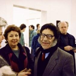 El artista plástico Carlos Cruz-Diez y su esposa