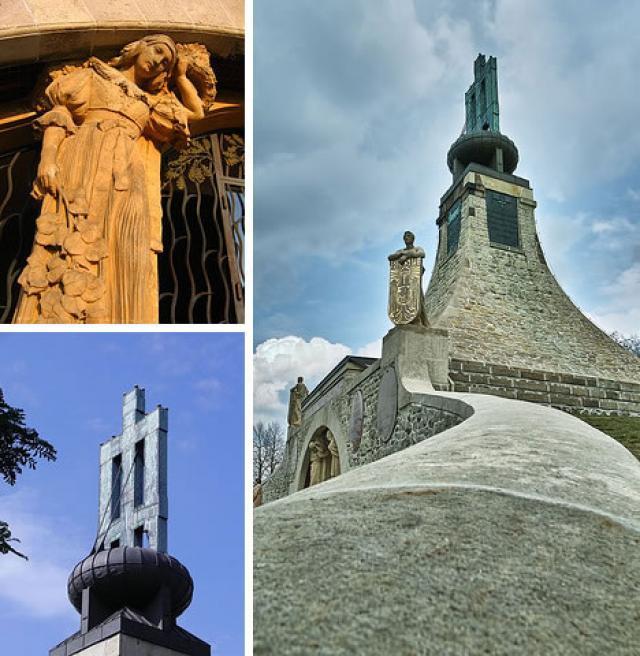 El monumento está cerca de la aldea Prace en la República Checa.