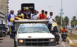 Caravana de recibimiento a Yulimar Rojas en Anzoátegui Foto: Prensa Alcaldía de Sotillo