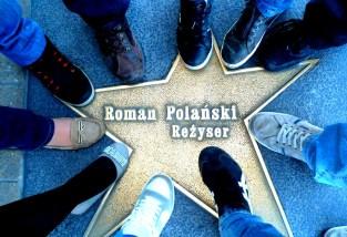 Estrella del director de cine Román Polanski en la ciudad de Lodz, Polonia