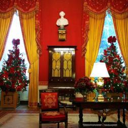 Salón de la Casa Blanca en Navidad 2009