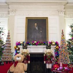Salón de la Casa Blanca en Navidad 2014