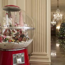 Pasillo de la Casa Blanca en Navidad 2014