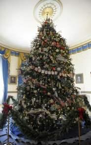Uno de los árboles navideños de la Casa Blanca, Navidad 2012