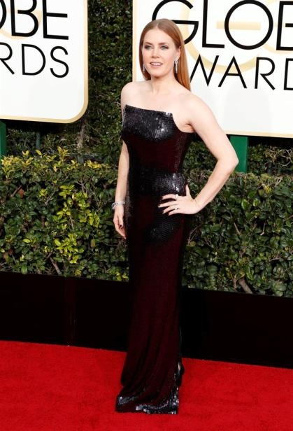 Amy Adams en la gala de los Golden Globes 2016
